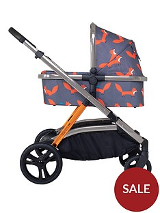 cosatto-wow-xl-pushchair-carrycot-mode-adaptors-raincover-toy-charcoal-mister-fox