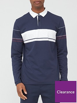 boss-plisy-1-colour-block-long-sleeve-polo-shirt-navynbsp