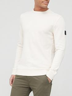 boss-walkup-1-arm-logo-sweatshirt-light-beige