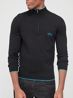 boss-ziston-quarter-zip-knitted-jumper-black