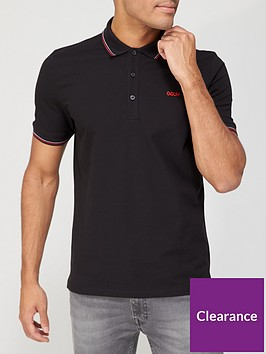 hugo-dinoso-211-polo-shirt-black