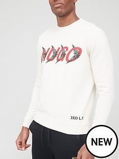 hugo-dakazie-logo-sweatshirt-white