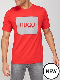 hugo-dolive-211-reflective-logo-t-shirt-red