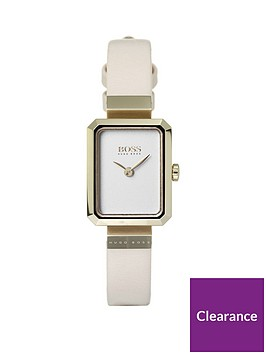 boss-whisper-square-white-dial-blush-strap-ladiesnbspwatch