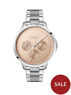 hugo-pink-multi-dial-stainless-steel-bracelet-watch