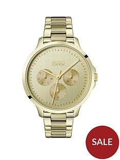 hugo-desire-multi-dial-gold-tone-bracelet-ladies-watch
