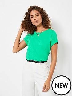 mint-velvet-cotton-star-t-shirt-green