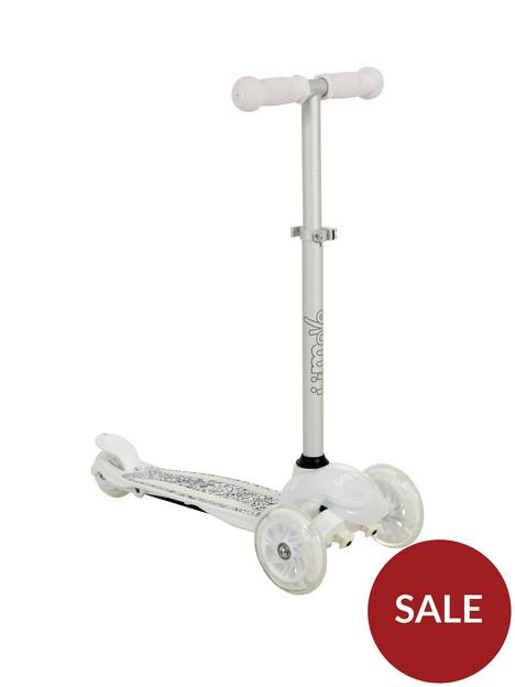 u-move-mini-flex-glitter-tilt-scooter-white