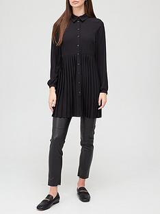 v-by-very-longline-pleated-shirt-black