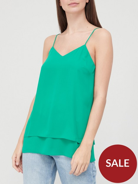 v-by-very-double-layer-basic-cami-green