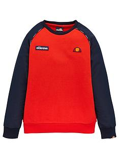 ellesse-ellesse-boys-zapha-junior-sweatshirt-red