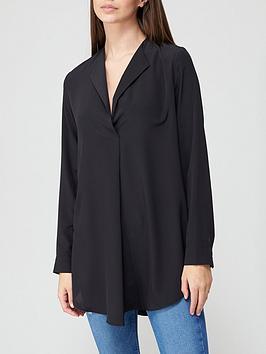 v-by-very-open-collar-longline-blouse-black