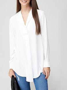 v-by-very-open-collar-longline-blouse-ivory