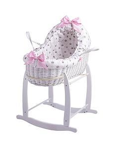 clair-de-lune-rachel-riley-my-little-princess-bassinet-with-deluxe-stand