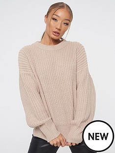 missguided-missguided-chunky-crew-neck-jumper-stonenbsp