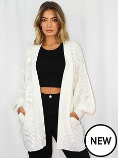 missguided-missguided-belted-balloon-sleeve-cardigan-white