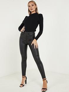 quiz-punbsphigh-waist-skinny-jeans-blacknbsp