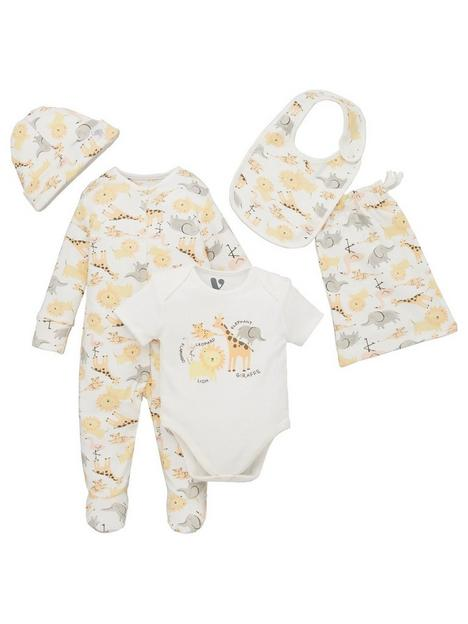 mini-v-by-very-baby-giftingnbspbaby-unisex-organic-4-piece-animal-bag-set-multi