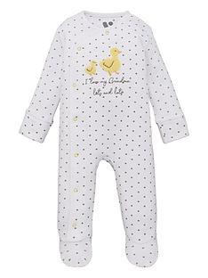 mini-v-by-very-baby-unisex-i-love-grandma-duck-sleepsuit-grey-marl