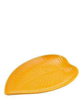 mason-cash-in-the-forest-medium-leaf-platter--nbspmustardnbsp