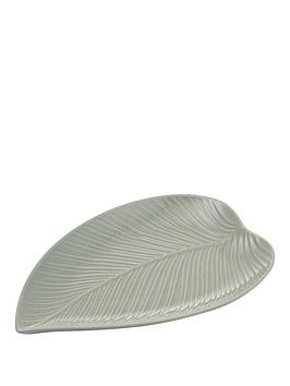 mason-cash-in-the-forest-small-leaf-platter--nbspgrey