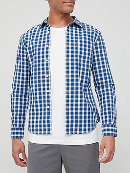 levis-one-pocket-check-slim-shirt-blue