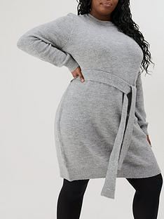 v-by-very-curve-belted-knitted-tunic-charcoal