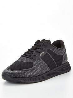 boss-titanium-tonal-logo-runner-trainers-black