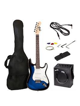 rockjam-electric-guitar-pack--blue-burst