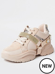river-island-embellished-gem-strap-chunky-trainers-pink