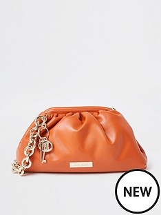 river-island-chunky-chain-ruched-bag-orange