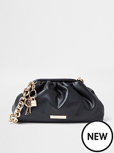 river-island-chunky-chain-ruched-bag-black