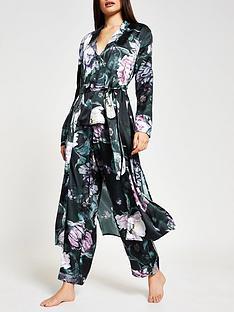 river-island-floral-print-satin-pyjama-robe-black