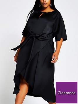 ri-plus-tie-side-asymmetric-midi-dress-black