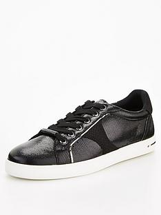 office-force-feature-side-detail-lace-up-trainer-black