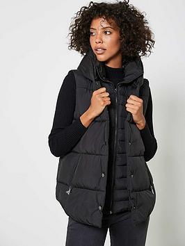 mint-velvet-padded-double-layer-gilet-black