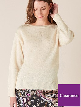 monsoon-foil-spot-knitted-jumper