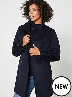 mint-velvet-funnel-neck-button-coat-navy