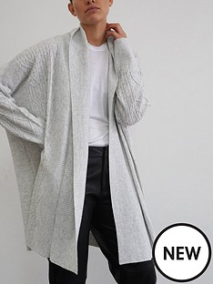 religion-passion-longline-cable-cardigan-grey
