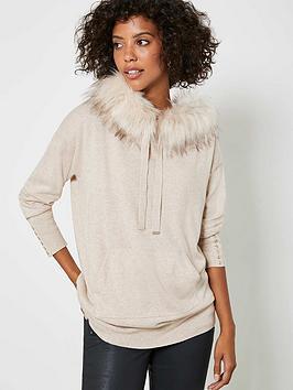 mint-velvet-faux-fur-longline-hoodie-neutral