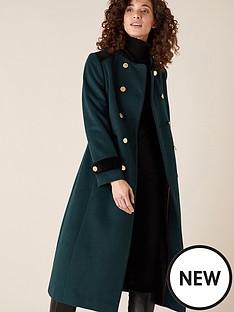 monsoon-maddie-military-coat-green