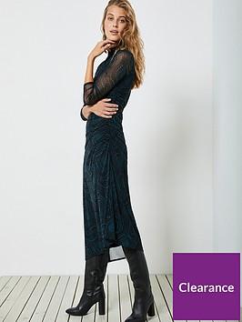 mint-velvet-lyra-star-print-ruched-detail-mesh-dress-black