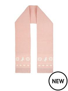 monsoon-girls-pink-charlotte-unicorn-fairisle-scarf-pale-pink