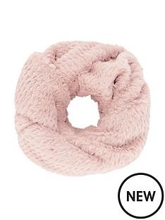 monsoon-girls-pink-gold-spot-fluffy-snood-pink