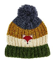 monsoon-boys-fox-stripe-jake-chenille-pom-hat-multi