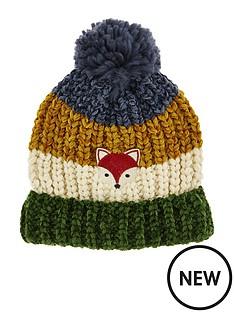 monsoon-boys-fox-stripe-jake-chenille-pom-hat-multi
