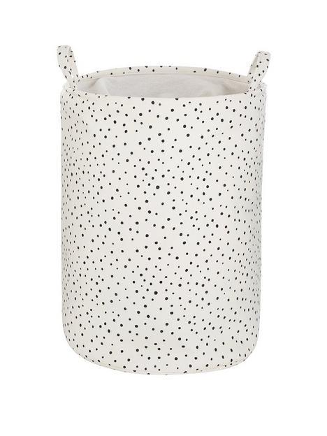 dotty-print-storage-basket-with-drawstring