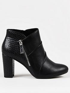 wallis-pleated-fron-side-zip-block-heel-black