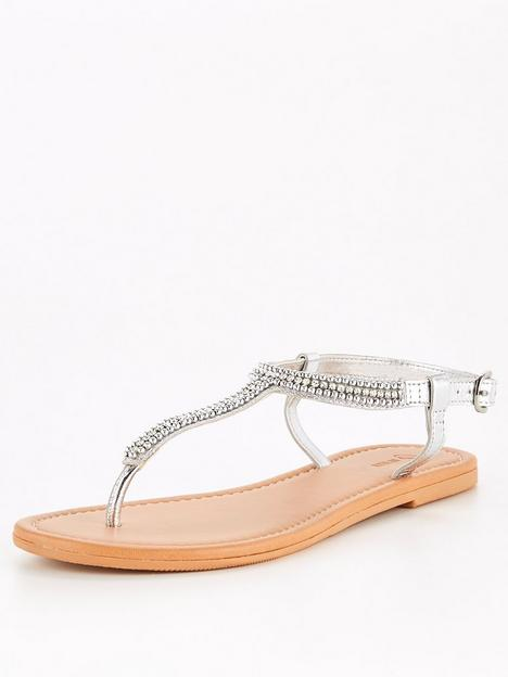 v-by-very-embellished-leather-toe-post-sandal-silver