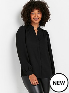wallis-plain-airflow-shirt-black